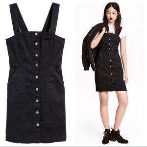 H&M Divided Overall Black Denim Dress